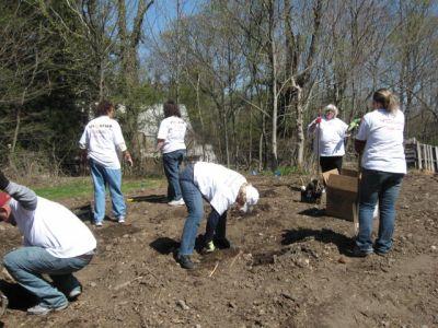 Dunkin Brands Plug Planting - April 2009